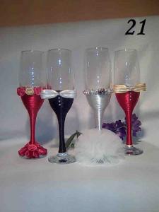 Pahare de nunta noi pentru miri si nasi foto