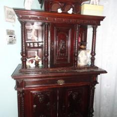 Mobila sculptata veche de peste 100 an - Mobilier, Seturi, Necunoscut, 1800 - 1899