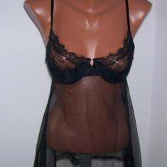 Lenjerie dama Victoria's Secret Very Sexy marime 36 C USA - Camasa de noapte, Culoare: Negru