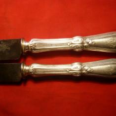 2 Manere de Cutit cu marcaj, gravate manual, sf. sec.XIX