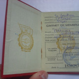 Pasaport/Document - Uniunea centrala a sindicatelor - carnet de membru - 1967