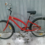 Bicicleta de oras, V-brake/torpedo, Drept(Flatbar), Plastic armat cu fibre de carbon, Fara amortizor, Unisex - BICICLETA