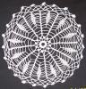 Tesatura/textila - Mileu/dantele crosetate manual din bumbac alb, model specific ramanesc, Ardeal-Alba, 1950, stare IMPECABILA