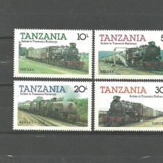 Timbre straine, Africa de sud, Transporturi - Tanzania 1984 - LOCOMOTIVE CU ABURI, serie nestampilata G41
