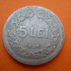 Monede Romania - 5 LEI 1949 NR.2