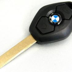 Carcasa cheie BMW diamant lama 2 track HU92 cu emblema siliconica