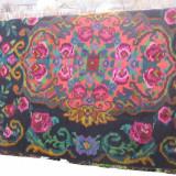 Vand covor vechi moldovenesc, din lina, vopsea naturala, lucrat manual 100%, starea foarte buna tesut prin anii 1930, - tesatura textila