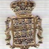 C307 Medalie(placheta) heraldica stema(emblema) zonala Spania -marime cca 32X22mm, gr aprox 7gr. -starea care se vede, mai buna ca scanarea