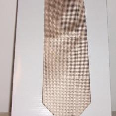 CRAVATA BEJ PEPIT DIN MATASE NATURALA,, MAURO LESANDRO - Cravata Barbati, Patratele