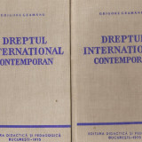 Dreptul international contemporan*2 vol. - Carte Drept international