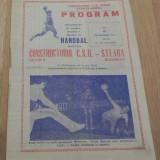 PLIANT -PROGRAM HANDBAL  CONSTRUCTORUL CSU ORADEA - STEAUA BUCURESTI, 17 SEPTEMBRIE 1981