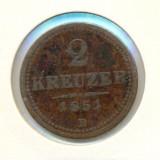 Moneda Medievala - 2 KREUZER 1851 B