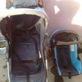 Carucior copii 2 in 1 Primii Pasi, Altele, Pliabil, Albastru - CARUCIOR PRIMI PASI+SCAUN AUTO SI ACCESORII