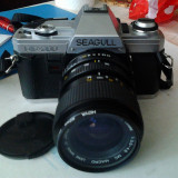 Aparat foto cu film Seagull DF 300+ obiectiv Exacta 35-70mm, SLR, Mediu