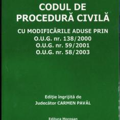 CODUL DE PROCEDURA CIVILA de CARMEN PAVAL - Carte Drept procesual civil