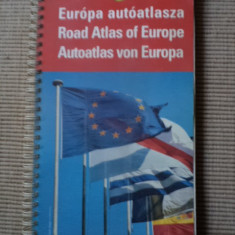 Road atlas of europe harta turism auto europa cartographia