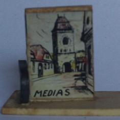 Microvedere-bibelou, Medias, R. P. R., circa 1955, format 18, 5 x 31, 5 x 36, 5 mm