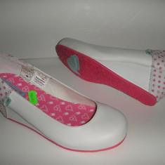 OFERTA! Pantofi cu talpa ortopedica dama Kangaroos albi foarte comozi sz 37 ! - Pantof dama, Piele sintetica