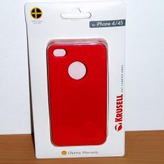 Vand / schimb Husa pt Apple iPhone 4 / 4S Krusell : Color Cover Red - Husa Telefon