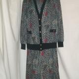 Costum dama, Multicolor - COMPLEU ROCHIE CU BLAZER, IMPRIMEU FLORAL, 46