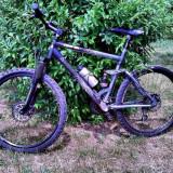 Mountain Bike, 21 inch, 26 inch, Numar viteze: 21, Aluminiu, Negru mat - Vand MTB Active Fire DH