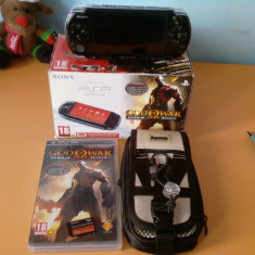 PSP Sony 3004 +card 8GB +husa +God of War:Ghost of Sparta
