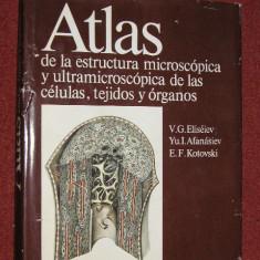 ATLAS DE LA ESTRUCTURA MICROSCOPICA Y ULTRA MICROSCOPICA DE LAS CELULAS, TEJIDOS Y ORGANOS - V.G. ELISEIEV, YU.I.AFANESIEV, E.F.KOTOVSKI