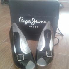 Platforme de vara Pepe Jeans - Pantof dama Pepe Jeans, Marime: 36.5, Negru