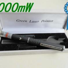 Laser Pointer tip stilou cutie bateri incluse in pret 1000mw Rosu