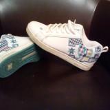 Tenisi dama Dc Shoes, Marime: 38, Alb - Skate Shoes DC (pentru EA)