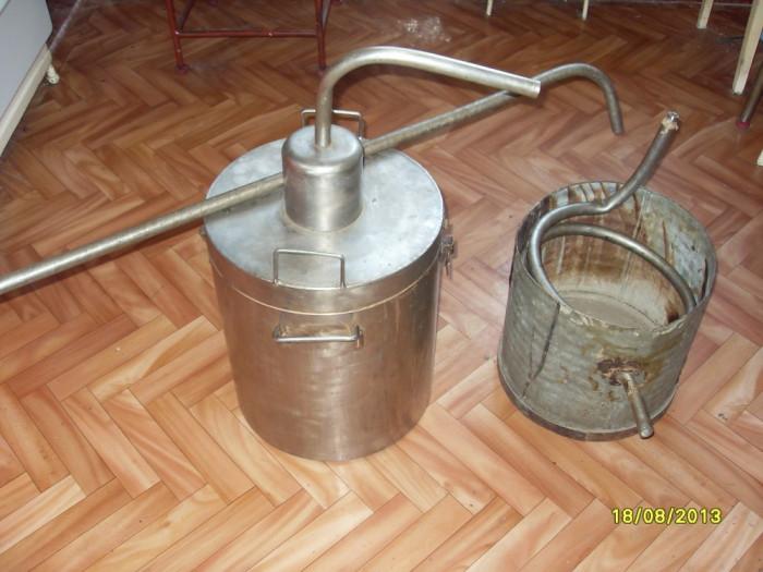 Cazan Tuica alambic inox 100% capacitate 28 litri foto mare