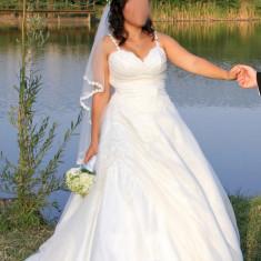 Vand Rochie de mireasa marimea M - Rochie de mireasa printesa