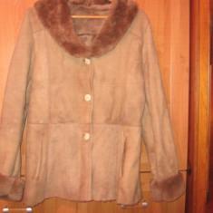 Cojoc haina blana naturala mar. 44-46 - Palton dama, Bej
