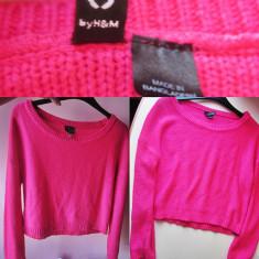 BLUZA ROZ H&M 15 lei - Bluza dama H&m, Marime: S, S, Maneca lunga, Casual