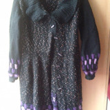 Pardesiu handmade din lana model unicat