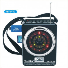 Aparat radio, Digital, 0-40 W - Radio MP3 portabil Waxiba XB-914U