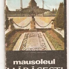(C4439) MAUSOLEUL MARASESTI, JUDETUL VRANCEA, COMITETUL DE CULTURA SI EDUCATIE SOCIALISTA - Carte Hobby Dezvoltare personala