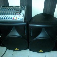 Vand Boxe Behringer active+Mixer Behringer+Mic+Cabluri