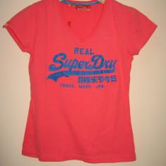 Top/ tricou dama Superdry, original 100%, bumbac 100%, S, nou cu eticheta, Marime: S, Culoare: Din imagine, Imprimeu text, Maneca scurta, Casual