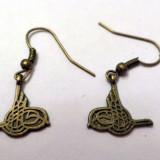 Cercei bronz copia semnaturii caligrafice a unui sultan
