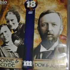 BONNIE &CLYDE /DOW&JONES-DVD 89 minute - Film documentare Altele, Romana