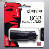 Stick USB Kingston, 8 GB, USB 2.0 - Stik USB Kingstone DT100G2/8GB capacitate: 8 GB interfata: 2.0 culoare: NEGRU
