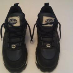 Buffalo platform shoes (adidasi cu talpa foarte inalta, rock, hippie) m 42. - Adidasi barbati Buffalo, Culoare: Albastru