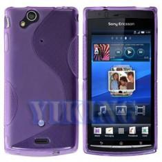 Husa protectie gel mov purple + folie ecran Sony Ericsson SE Xperia Arc s X12 airmesh - Husa Telefon