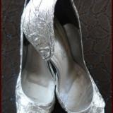 Sandale dama, Marime: 38, Argintiu - Pantofi/Sandale TREND Collection, 70lei.