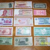 Lot de 15 bancnote straine necirculate