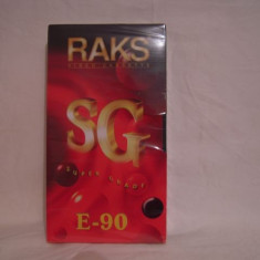 Vand casete video Raks E-90, sigilate, fabricate in Germania, VHS