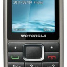 Vand Motorola wx306 Titanium Nou + casti noi noute + card 1gb 170 ron - Telefon Motorola, Argintiu, Vodafone, Single SIM, Clasic, Micro SD