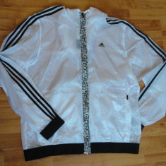 Bluza / geaca Adidas ORIGINALA - import Marea Britanie - - Geaca barbati Adidas, XL, Alb