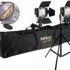 Vand 2 bucati Lampa video FV Smart-300 cu stative 2.8m + husa stative + blenda 5 in 1 - Lampa Camera Video